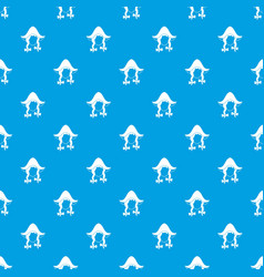 girl dutch pattern seamless blue vector image
