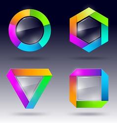 glass design element vector image