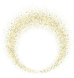 Gold glitter wave abstract background vector