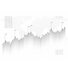 graph chart data background finance concept gray vector image