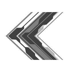 grey arrow circuit direction on white design vector image
