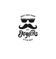 Happy father s day design collection set of black vector
