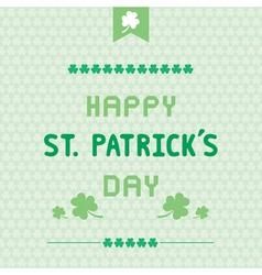 Happy Saint Patrick s Day8 vector image