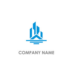 home building real estate logo vector image