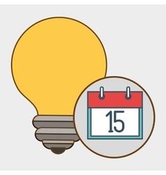 Idea calendar date icon vector