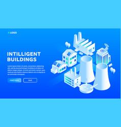 intelligent city building concept background vector image