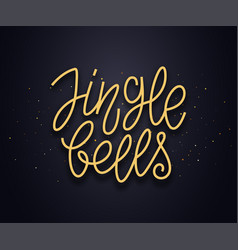 Jingle bells typography text card vector