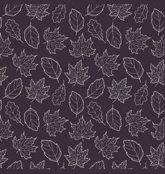 leaves seamless gray vector image
