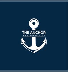 Marine retro emblems logo with anchor anchor logo vector