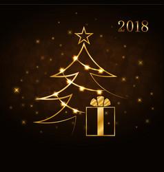 merry christmas celebration background gold xmas vector image