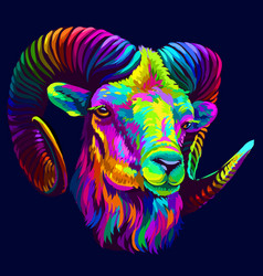 mountain sheep in pop art style vector image