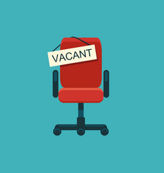 office chair and a sign vacant vector image