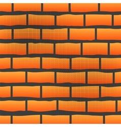 Orange Grunge Brick Wall vector