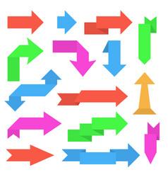 paper arrows colored set sticker labels vector image