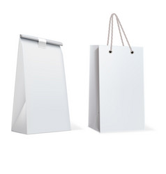 paper bags isolated on white vector image