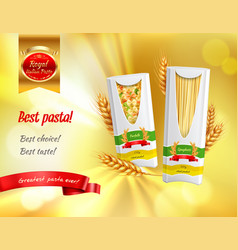 pasta advertisement realistic banner vector image