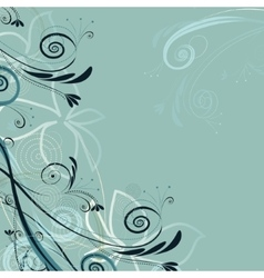 Pattern of mint color vector image