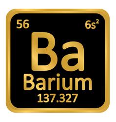 Periodic table element barium icon vector