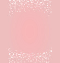 Pink background with hearts header and footer vector