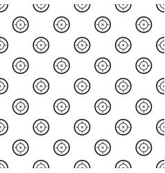 pistol gun aim pattern seamless vector image