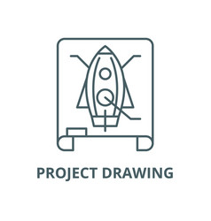 project drawing line icon linear concept vector image