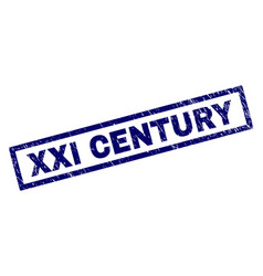 Rectangle grunge xxi century stamp vector