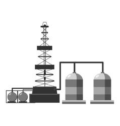 Refinery icon gray monochrome style vector