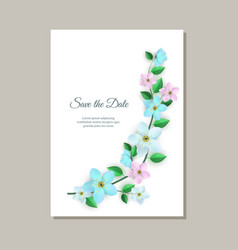 romantic wedding invitation vector image
