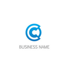 round letter c business logo vector image