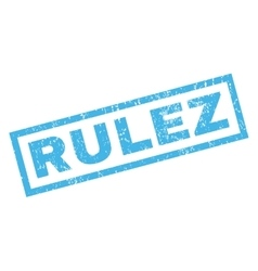 Rulez Rubber Stamp vector image
