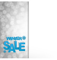 Sale glitter poster vector