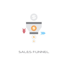 sales funnel analysis concept finance internet vector image