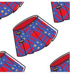 Scotland kilt plaid skirt seamless pattern vector