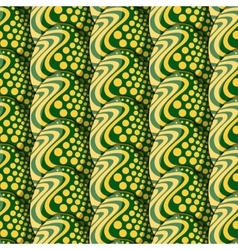 seamless pattern of eggs with circles and waves vector image