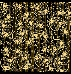 Seamless pattern ornament with royal breton vector