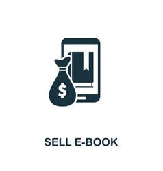 Sell e-book icon symbol creative sign from vector