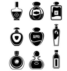 Set of perfumes vector image