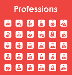Set of professions simple icons vector