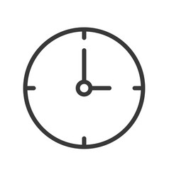 simple clock icon pixel perfect design editable vector image