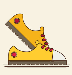 Sneakers flat icon vector