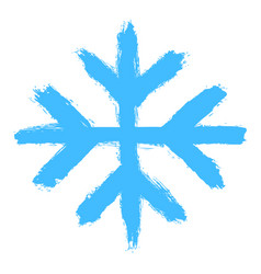 snowflake 03 from set 05 drawing of a snow flake vector image