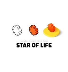 star life icon in different style vector image