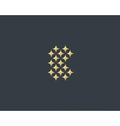 Stars letter b logotype luxury abc icon vector