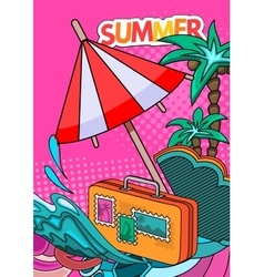 Summer style background vector image