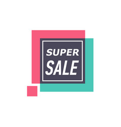 super sale isolated sticker vector image