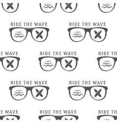 surfing seamless pattern with glass vector image