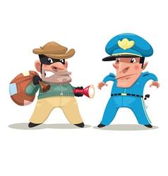 Thief and guard vector