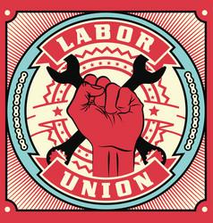 trade union conceptual retro vector image
