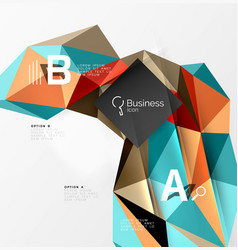 Triangle mosaic abstract template vector