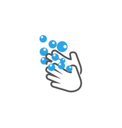 wash hands icon design template isolated vector image